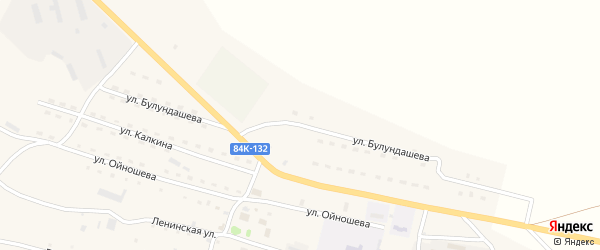 Улица Булундашева на карте села Ябогана с номерами домов