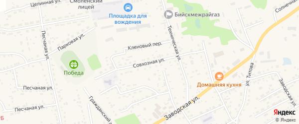 Совхозная улица на карте Смоленского села с номерами домов