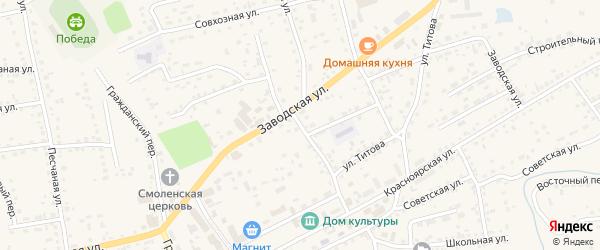 Комсомольский переулок на карте Смоленского села с номерами домов