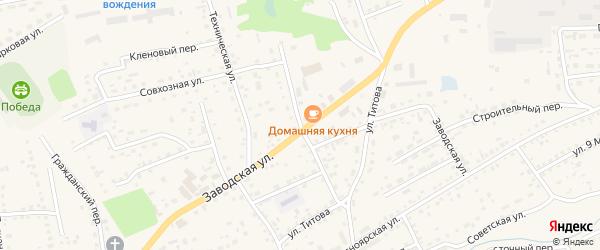 Автомобильный переулок на карте Смоленского села с номерами домов