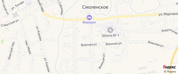 Улица Достовалова на карте Смоленского села с номерами домов