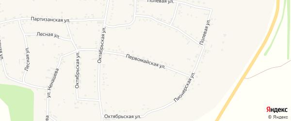 Первомайская улица на карте Смоленского села с номерами домов