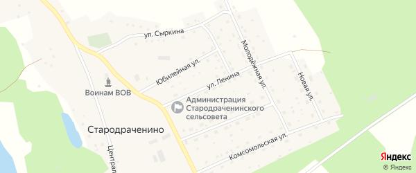 Улица Ленина на карте села Стародраченино с номерами домов