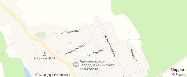 Улица Космонавтов на карте села Стародраченино с номерами домов
