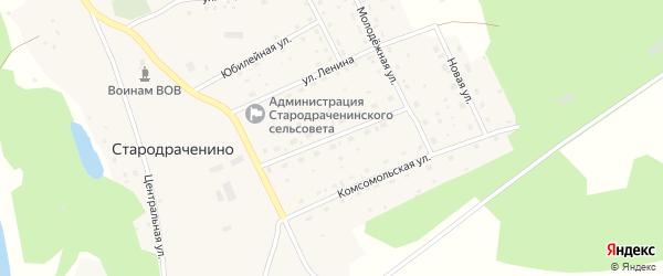 Улица 60 лет СССР на карте села Стародраченино с номерами домов