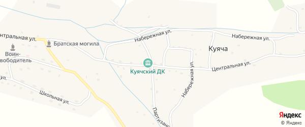 Центральная улица на карте села Куячи с номерами домов