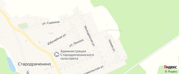 Молодежная улица на карте села Стародраченино с номерами домов
