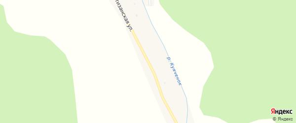 Партизанская улица на карте села Куячи с номерами домов