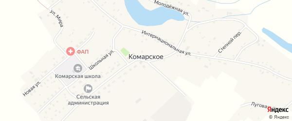 Школьная улица на карте Комарского села с номерами домов