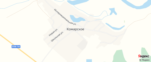 Карта Комарского села в Алтайском крае с улицами и номерами домов