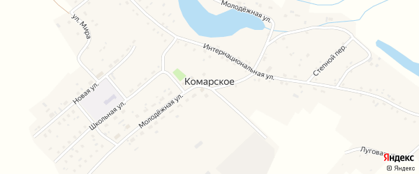 Интернациональная улица на карте Комарского села с номерами домов