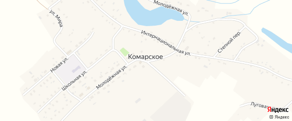 Луговая улица на карте Комарского села с номерами домов