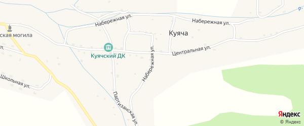 Набережная улица на карте села Куячи с номерами домов