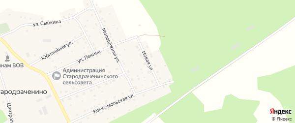 Новая улица на карте села Стародраченино с номерами домов