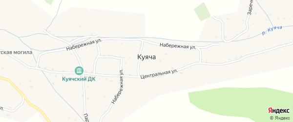 Улица Красное Знамя на карте села Куячи с номерами домов