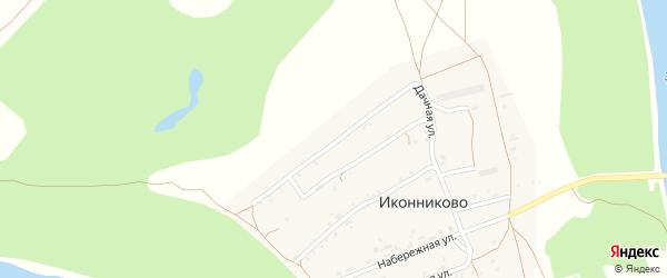 Дачная улица на карте села Иконниково с номерами домов