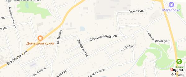 Строительный переулок на карте Смоленского села с номерами домов