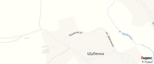 Крайняя улица на карте села Шубенки с номерами домов