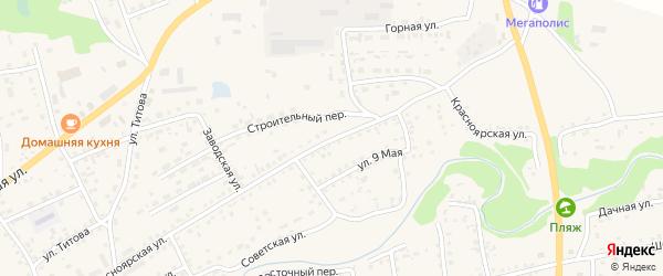 Красноярская улица на карте Смоленского села с номерами домов