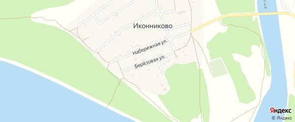 Березовая улица на карте села Иконниково с номерами домов