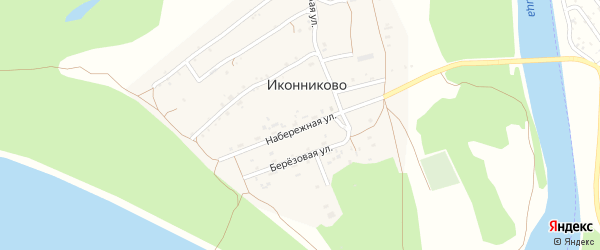 Набережная улица на карте села Иконниково с номерами домов