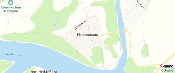 Карта села Иконниково в Алтайском крае с улицами и номерами домов