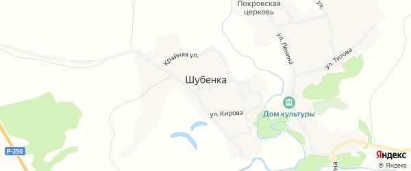 Карта села Шубенки в Алтайском крае с улицами и номерами домов