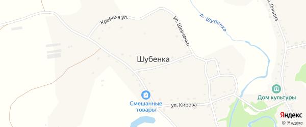 Новый переулок на карте села Шубенки с номерами домов