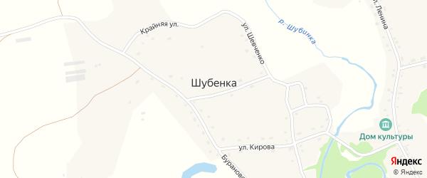 Улица Степана Дымова на карте села Шубенки с номерами домов