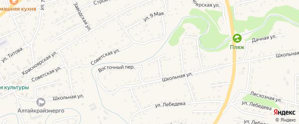 Восточный переулок на карте Смоленского села с номерами домов