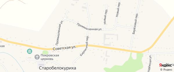 Кирпичный переулок на карте села Старобелокурихи с номерами домов