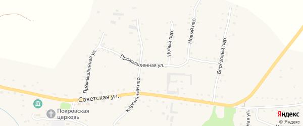 Промышленная улица на карте села Старобелокурихи с номерами домов