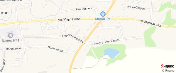 Энергетическая улица на карте Смоленского села с номерами домов