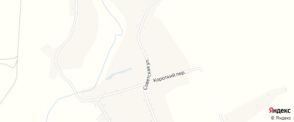Советская улица на карте села Шубенки с номерами домов