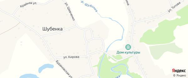 Улица Андрея Ульянова на карте села Шубенки с номерами домов