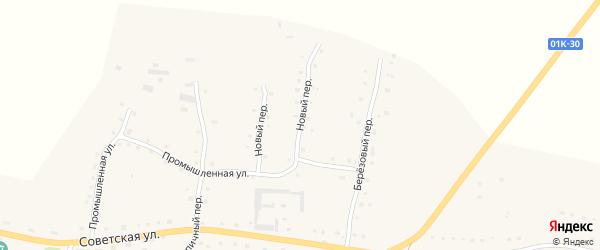 Новый переулок на карте села Старобелокурихи с номерами домов