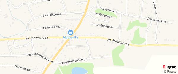 Улица Мартакова на карте Смоленского села с номерами домов