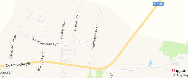 Березовый переулок на карте села Старобелокурихи с номерами домов