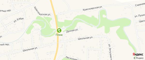 Дачная улица на карте Смоленского села с номерами домов