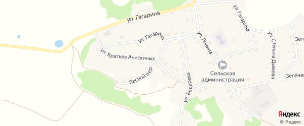 Лесной переулок на карте села Шубенки с номерами домов