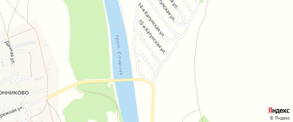 17-я Катунская улица на карте садового некоммерческого товарищества Катунские зори с номерами домов