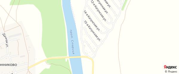 16-я Катунская улица на карте садового некоммерческого товарищества Катунские зори с номерами домов