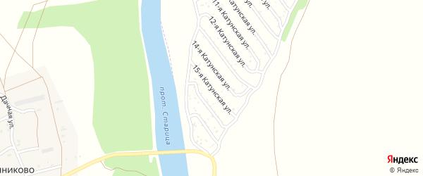 15-я Катунская улица на карте садового некоммерческого товарищества Катунские зори с номерами домов