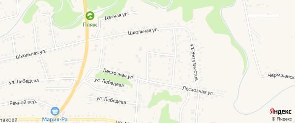 Лесхозная улица на карте Смоленского села с номерами домов