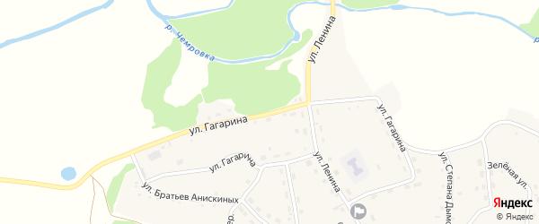 Улица Гагарина на карте села Шубенки с номерами домов