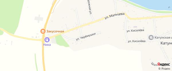 Улица Черемушки на карте Катунского села с номерами домов