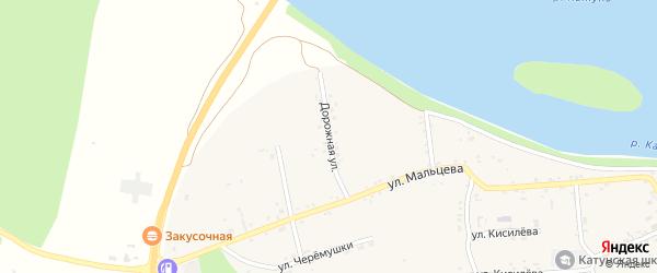 Дорожная улица на карте Катунского села с номерами домов