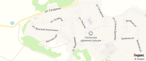 Улица Бедарева на карте села Шубенки с номерами домов