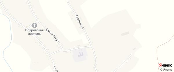 Садовая улица на карте села Шубенки с номерами домов