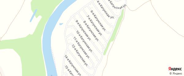 12-я Катунская улица на карте садового некоммерческого товарищества Катунские зори с номерами домов